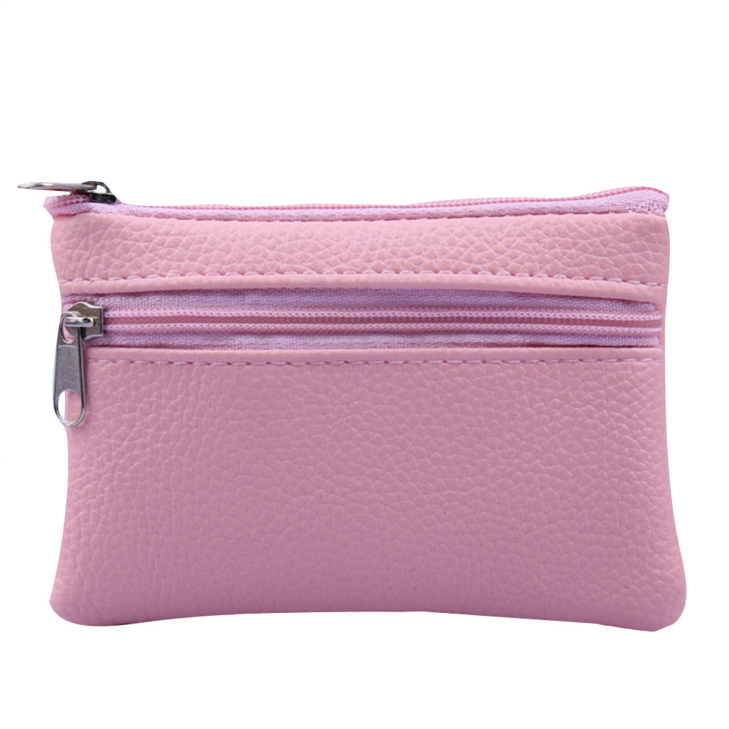 Women Leather Wallet Multifunctional Zipper Clutch Coin Purse Card Ladies Small