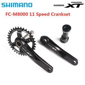 SHIMANO Deore XT M8000 Crankset 1x11 Speed Chain Wheel crank with Deckas 96BCD Narrow Wide chainring 32T 34T 36T 38T with MT800 - DISCOUNT ITEM  54% OFF All Category