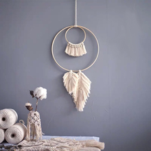 Dream Catcher Wall Hanging Tapestry Wedding Macrame Knit Wall Decoration Modern Macrame Tapisserie  Headboard  Wall Blanket