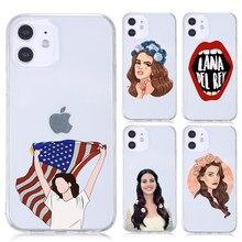 Lana Del Rey Funda para teléfono para iPhone 12 11 Pro MAX XR XS X 10 Funda de silicona cubierta Del TPU para el iPhone 7 8 Plus SE 2020 a prueba de golpes a prueba Funda
