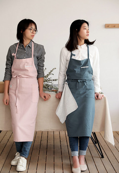 2020 Unisex Cotton Apron Bib Coffee Flower Shops Work Kitchen Cooking Cleaning Aprons for Woman Adult Barbershop Nail Technician fashion brief nordic wind pleated skirt cotton linen chef apron coffee shops and flower shops work clothes women cleaning aprons