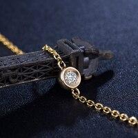 18K Yellow Gold Diamond Bracelet 16+2cm 0.10ct Natural Diamond Jewelry Handmade Quality Wedding Jewellery