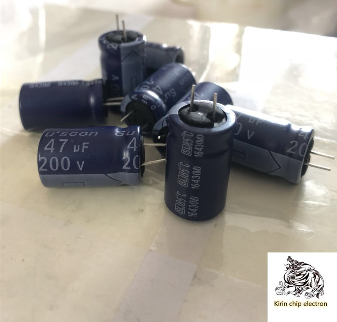 10PCS/LOT 200V 47uF Electrolytic Capacitor 13X20 Blue Short Leg Amplifier Filter Capacitor