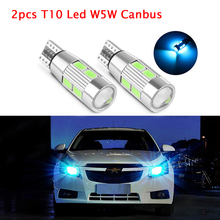 LED Bulb Error Free T10 Led W5W Canbus 5630 5730 10SMD 194 168 Car Clearance Light  Auto Parking Light Side Wedge Lamp Fog Light 2pcs canbus led ba9s t4w no polarity 12 24v 8 5630 xbd smd car light bulb parking lights lighting error free auto lamp led white