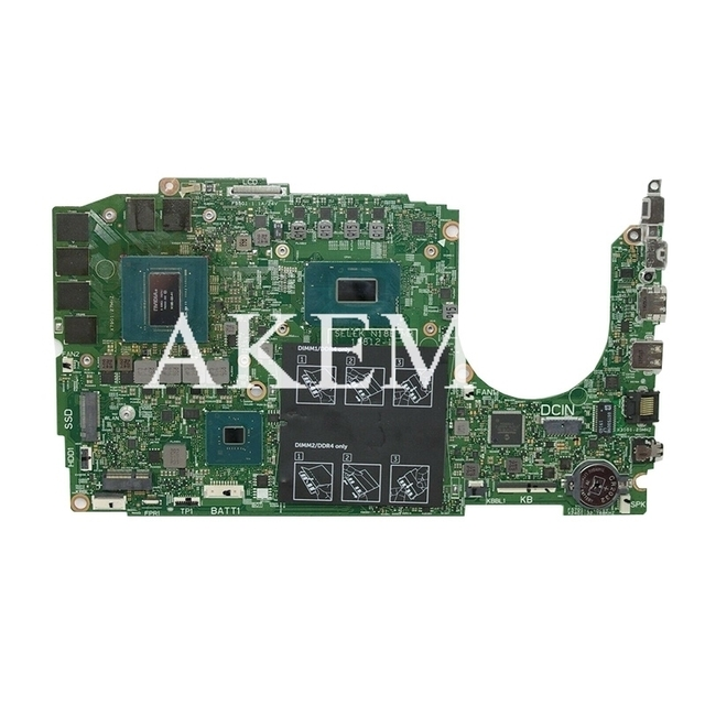 Laptop motherboard for Dell Inspiron G3 15-3590 original mainboard I7-9750H RTX2060-6GB