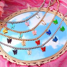 Женское Ожерелье чокер flatfoosie разноцветное акриловое ожерелье