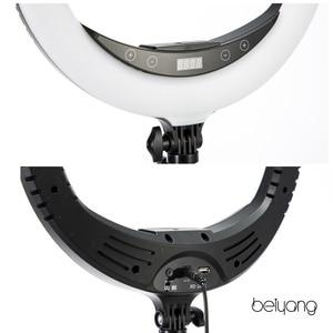 "Image 5 - Beiyang 240C 14 ""調光可能な写真撮影の光 led リングライト 3 色 3200 5600 18k 240 led リング用電話フォトスタジオ"