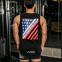 2019 Clothing Fitness Tank top Men Cotton Sleeveless Shirt Bodybuilding Vest Fitness printing Fashion Tracksuits Muscle Clothes(China)