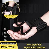 2 uds. De soporte de muñeca con ganchos, guantes ajustables antideslizantes para gimnasio, Fitness, levantamiento de pesas, brazos, correa de entrenamiento de fuerza