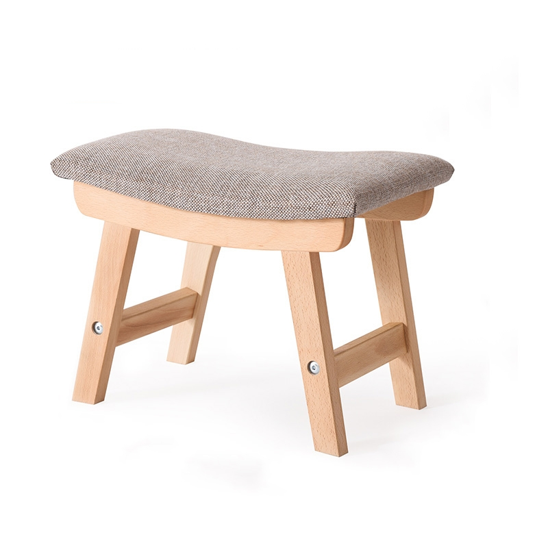 solid wood dining  square stool fabric dressing stool fashion makeup stool bench adult household stool modern