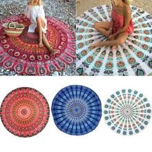Круглый коврик шарф МАНДАЛА ГОБЕЛЕН пляжный, пикник пледы ковры Одеяло в богемном стиле лужайка коврики TN88