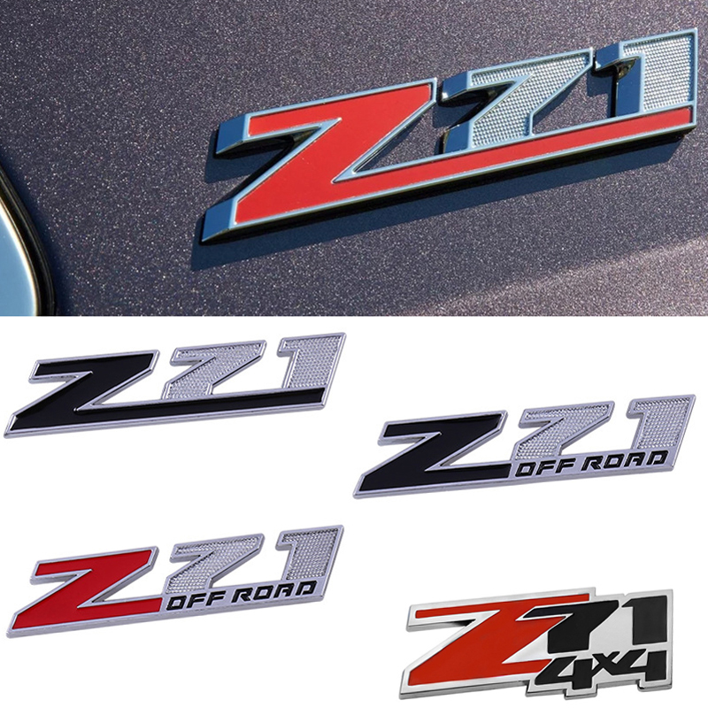 3D Badge for Chevrolet Chevy Z71 <font><b>4X4</b></font> <font><b>Off</b></font> <font><b>Road</b></font> Grille Emblem for Colorado Cruze Camaro Aveo Captiva Lacetti Sail Car Accessories image
