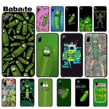 yinuoda rick and morty mr pickles rick newest super cute phone cases for iphone 8 8plus 7 7plus 6s 6splus xsmax x xs xr Babaite Rick Morty Pickle Rick Cases Luxury Cover For Iphone 5s Se 6 6s 7 8 Plus X Xs Max Xr 11 Pro Max Mobile Phone Accessories