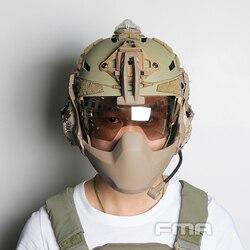 FMA Clear Batlsking Viper Visor Anti niebla gafas tácticas para casco 3mm grueso transparente/Negro/plateado lentes TB1361