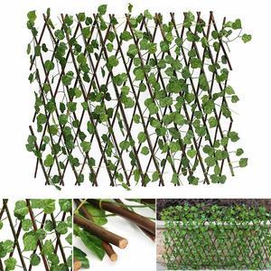 70CM, extensión de plantas artificiales de decoración, jardín, patio, hiedra Artificial, cerca de hojas, hojas de imitación, Rama, Red Verde para el hogar, pared, jardín