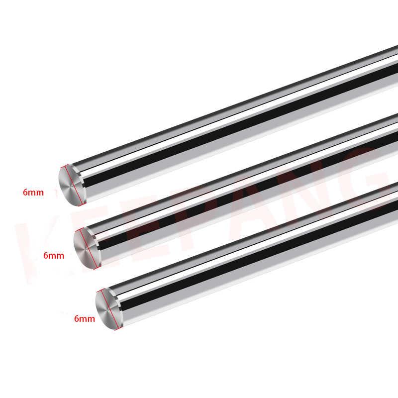 1pcs D = 6mm 8mm 10mm L = 100 มม.200 มม.150 มม.Linear SHAFT RAIL กระบอก Chrome Plated Smooth Linear แท่งแกน 3D เครื่องพิมพ์
