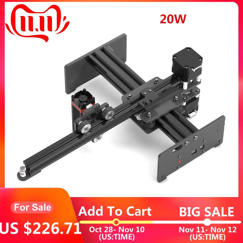 CNC Laser graveur Laser gravure Machines 20W Mini sculpteur bricolage laser cutter bois routeur CNC pour métal gravure sur bois machine