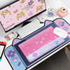 Thicken Non-slip Cute Cat/Dog  Ears Big Mouse Pad 80CM*40CM Computer Game Component Pink Cartoon With Mouse Desk Mat For Girl