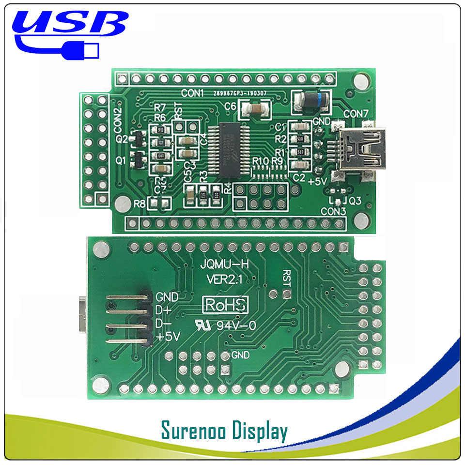 LCD2USB USB 204 20X4 2004 أكبر الطابع وحدة عرض LCD شاشة لوحة sutible LCD Smartie و AIDA64 ل DIY PC