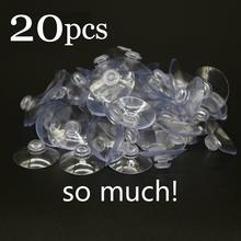 40mm&30mm 20PCS/lot High-end Sucker Suction Cups Mushroom Head Suckers Cup Button Transparent