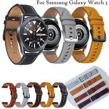 Armband Für Samsung Galaxy Uhr 3 45mm original 22mm Echtes Leder Strap-Armband Sport Armband Für galaxy uhr 46mm neue