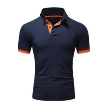 Men Tops Shirts Golf Polos Exercise Quick-Dry Short-Sleeve Slim Casual Fashion Summer