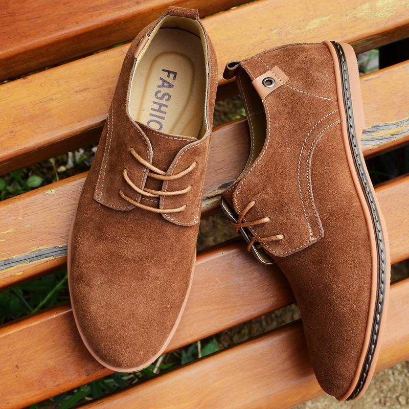 High Quality Flock Man Shoes Flats 2019 New Fashion Comfortable Shoes Men Sneakers Lace-up Solid Men Shoes Zapatos De Hombre