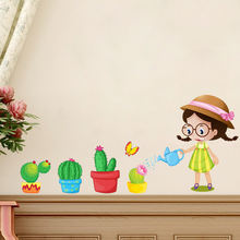 Цветочный горшок для детского сада фон детской комнаты настенное