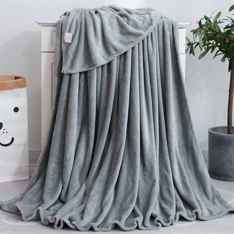 SUCSES Solid Flannel Fleece Blanket Super Soft Warm Throw Blankets For Sofa/Bed/Travel/Bedspread