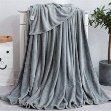 Manta de franela lisa de felpa súper suave y cálida para sofá/cama/viaje/colcha