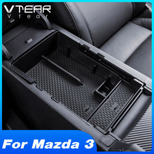 Vtear For Mazda 3 2019 2020 Accessories Car Central Armrest Storage Box Container Center Console Organizer Tray Interior Product