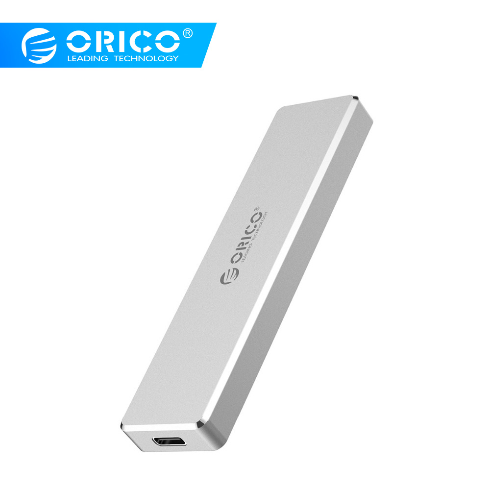 ORICO M2 boîtier SSD USB C 10gbps Soutien UASP USB3.1 Gen2 Type-c Mini M.2 SSD Boîtier Clip/Poussoir De Type ouvert Avec USB-C à C