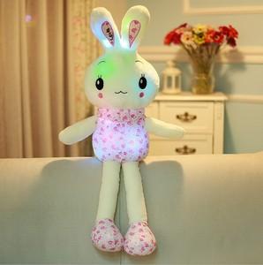 "Image 3 - ""חמוד ארנב"" זוהר ממולא בעלי החיים בובה בפלאש צעצוע יום הולדת חג המולד מתנה"