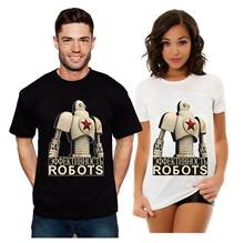 Retro Propaganda Robot CCCP Soviet USSR Russian Red Star Mens T Shirt and Ladies T-Shirt(China)