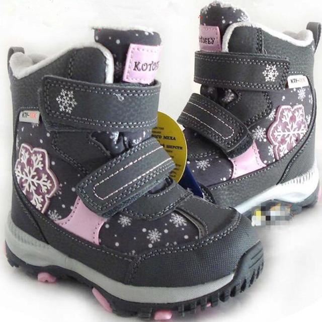 Dei ragazzi delle ragazze stivali da neve reale naturale di lana per bambini stivali da neve caldo impermeabile Antiscivolo scarpe formato 22 a 40 wallvell
