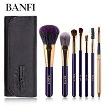 7PCs/set PurpleMakeup Brushes Set Women Beauty Cosmetic Tools Foundation Powder Blush Eyeshadow Concealer Lip Make up Brushes