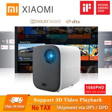 Inteligentny projektor Xiaomi dla domu Mini 3D 500 ANSI lumenów 1080P DLP Dolby Audio TV Box automatyczna ostrość pionowa korekcja Keystone tanie tanio Automatyczna korekcja CN (pochodzenie) NONE MJJGTYDS02FM RZUCANIE OBRAZU 1 3KG 115*150*150mm Auto Focus Vertical Keystone Correction