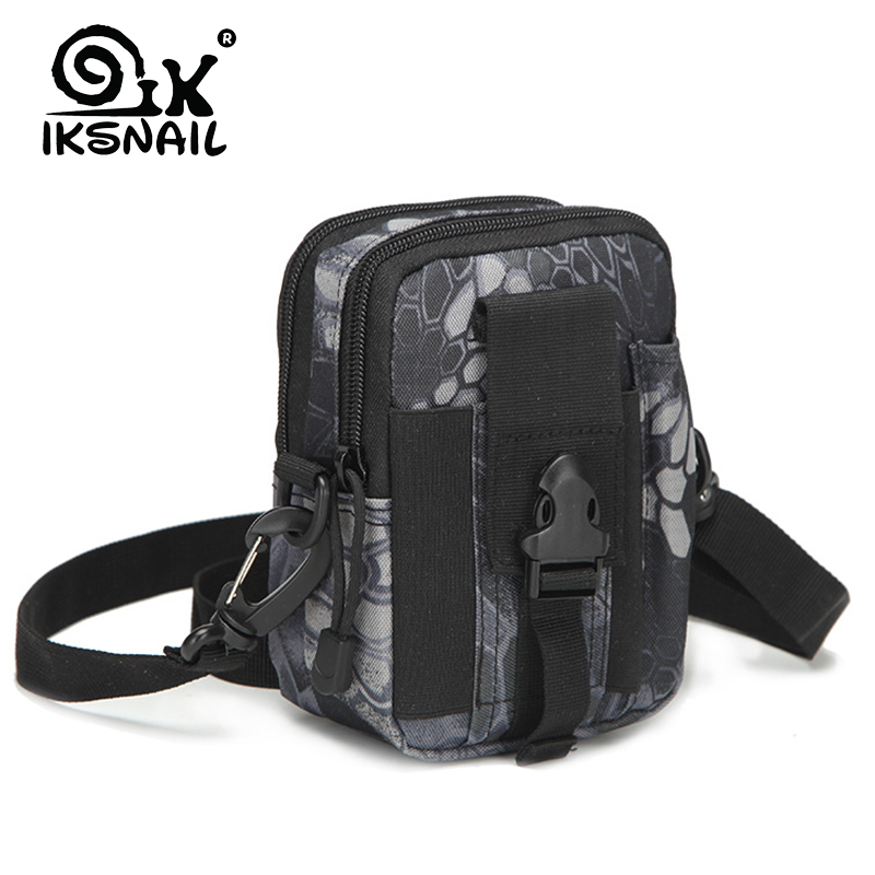 IKSNAIL Outdoor Camping Bag Tactical Molle Backpacks Pouch Belt Military Waist Backpack Sport Running Pouch Travel Shoulder Bags