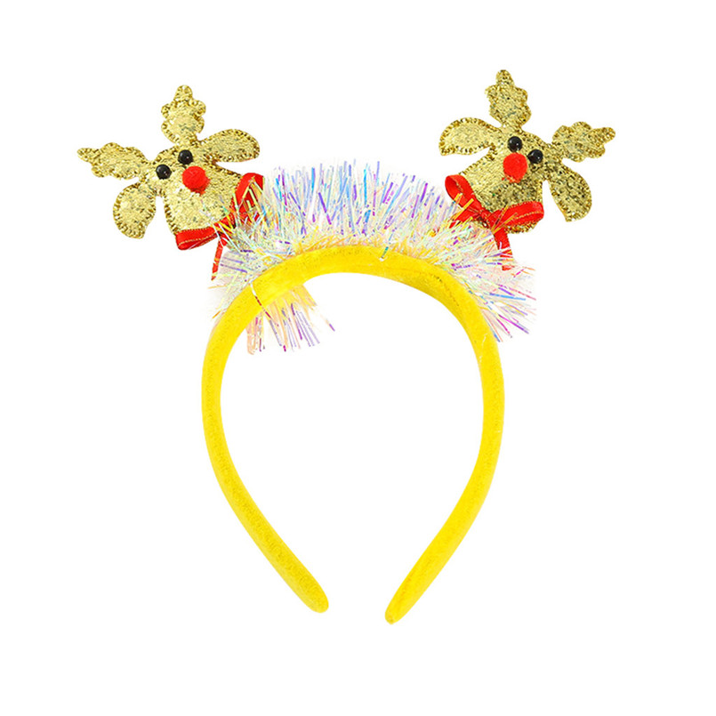 New Year Kid Christmas Party Antlers Headband Headclip Accessories Sweet Children Headband barettes fille enf 30DE15 (1)