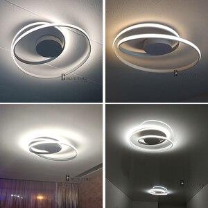 Image 5 - Hot Sale Modern LED Ceiling Lights For Living Room Bedroom Dining Room Luminaires White&Black Ceiling Lamps Fixtures AC110V 220V