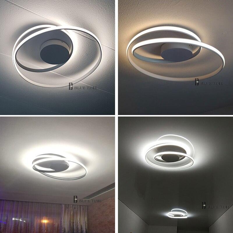 Image 5 - Offre spéciale plafond moderne à LEDs lumières pour salon chambre salle à manger Luminaires blanc et noir plafonniers Luminaires AC110V 220V-in Plafonniers from Lampes et éclairages on AliExpress