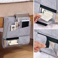 Yeahmart прикроватная сумка для хранения карманная фетровая кровать подвесной органайзер книжный журнал ТВ пульт Caddy двухъярусный держатель д...