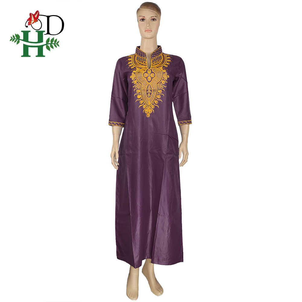 H & D אפריקאי נשים שמלות זהב רקמת מקסי שמלת דרום אפריקה מסורתית דאשיקי בגדי גבירותיי אנקרה שמלות Ropa Mujer