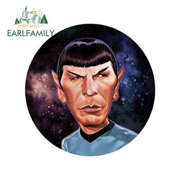 EARLFAMILY 13cm x 12.8cm for Mr.Spock Star Trek Motorcycle Car Stickers Bumper Window DIY Anime Fashion Scratch-proof Decal image