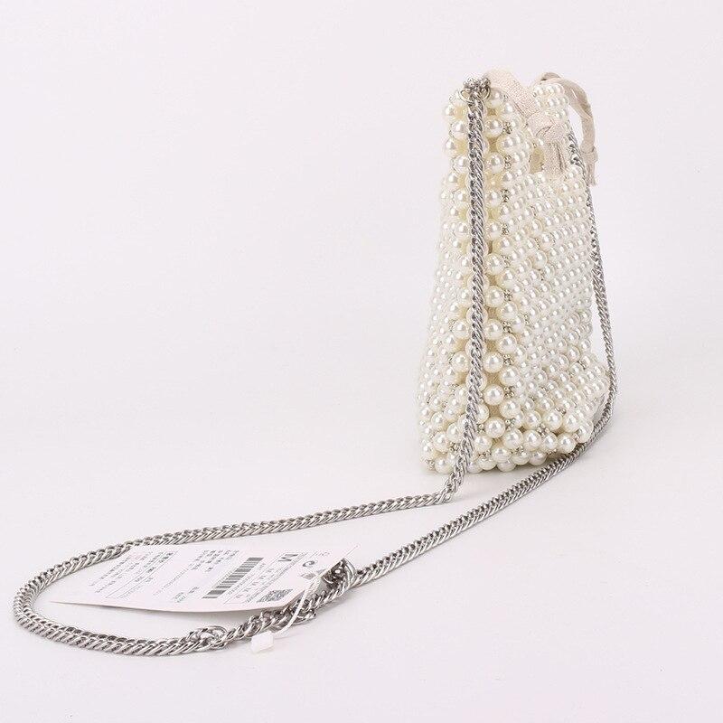 Artesanal bolsas de pérola designer frisado bolsas