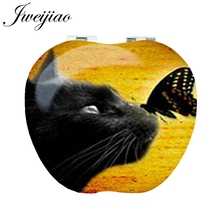 JWEIJIAO Butterfly on cat's nose Apple Shaped game Compact p