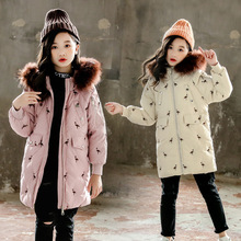 Girls Clothing Warm Down Jacket For Girl Clothes 2019 Winter Thicken Parka Fur Hooded  Children Outerwear Coats 3-13T children cold winter warm down jacket girls thickening boy long parka real fur hooded outerwear coats kids clothing girl clothes