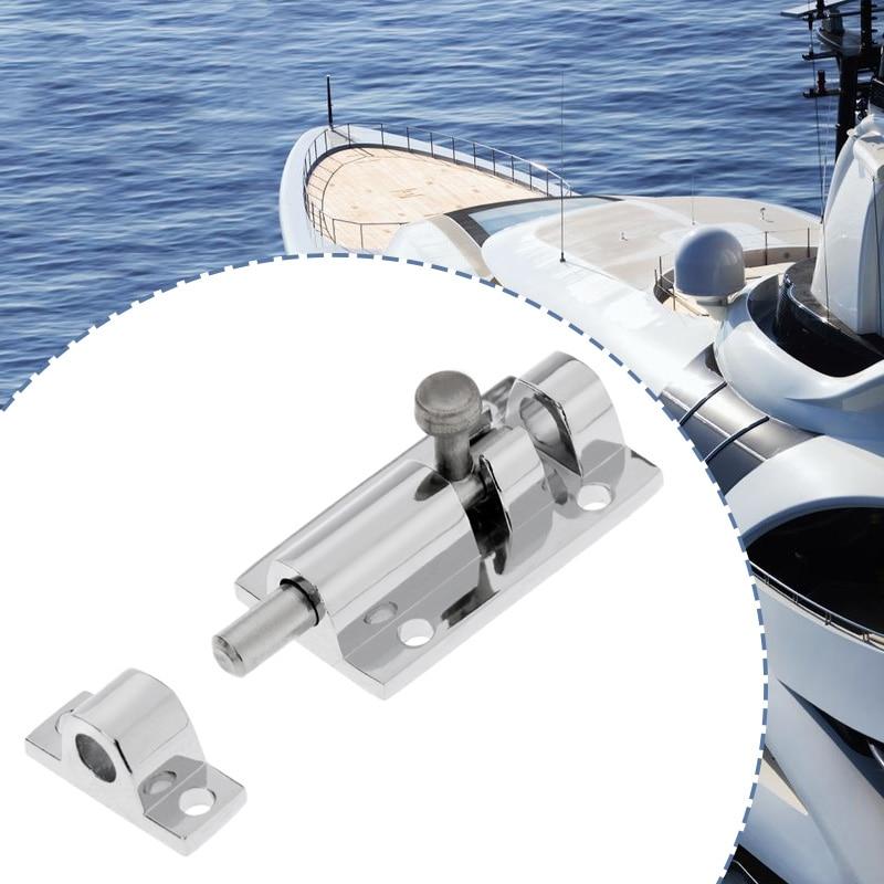 1 Pcs Boat Barrel Bolt Cabinet Door Latch Lock Marine 316 Grade Stainless Steel For Boat Yacht Door Window Etc 2*1 Inch