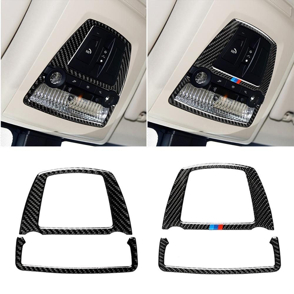 Luz de Lectura de Techo Decorativo de Fibra de Carbono Cubierta de Pegatinas para el BMW Serie 5 F07 F10 F26 5gt X4 X3 F25