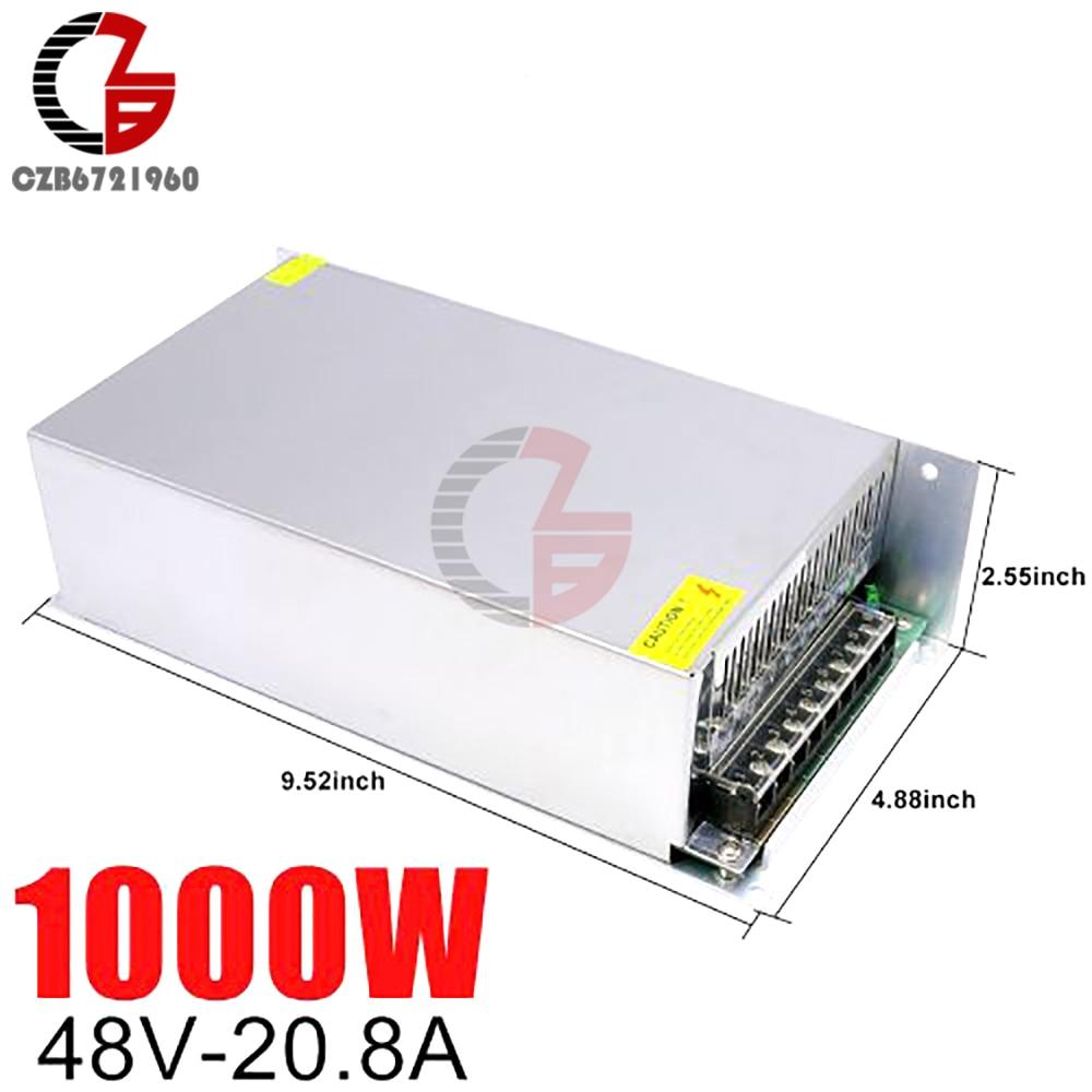48V alimentation à découpage 20.8A 1000W AC à DC LED bande alimentation adaptateur transformateur alimentation LED alimentation régulateur de tension